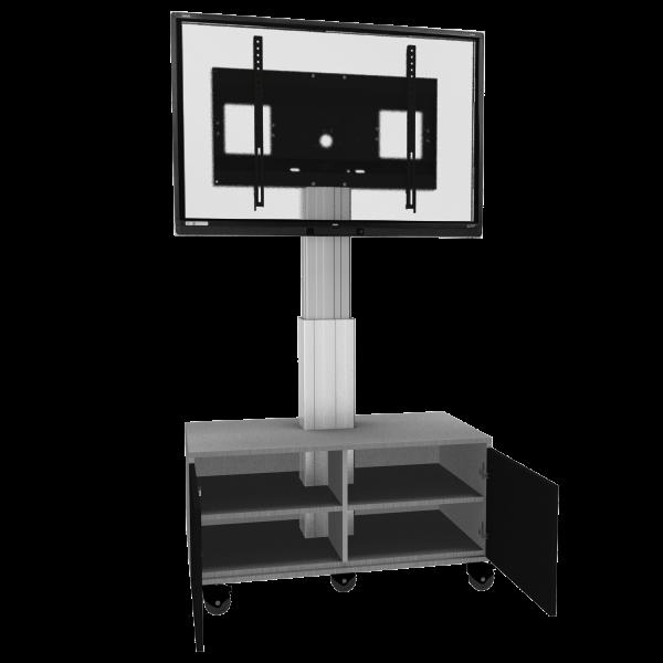 Display-Rollwagen-Adjust-4275MS-mit-Schrank-50cm