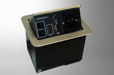 celexon Expert Tischanschlussfeld TA-100S silber