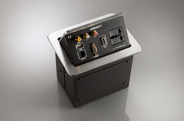 celexon tilted AV desk face plate Expert TA-200S INT silver