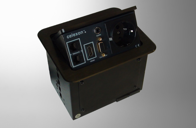 celexon Expert Tischanschlussfeld TA-100B schwarz