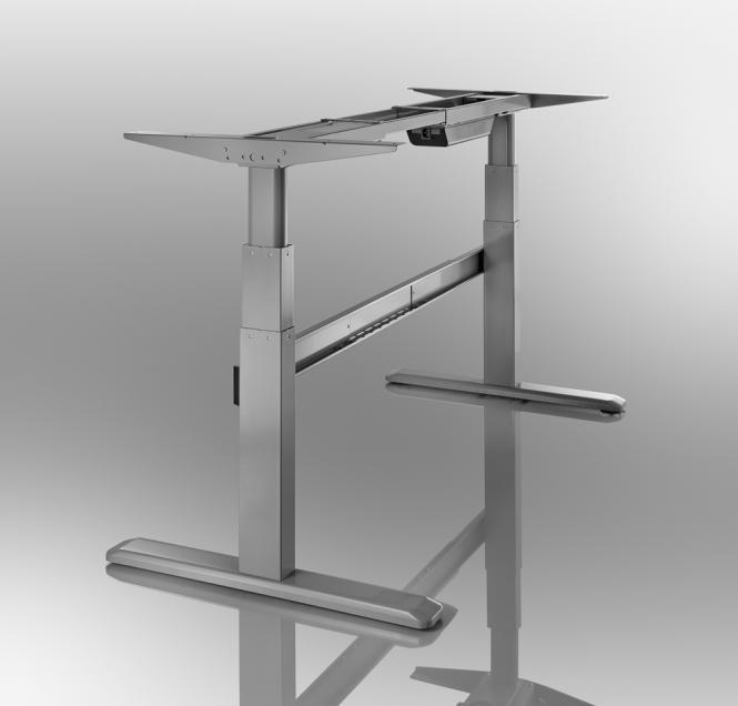 celexon Professional eAdjust-65120B height adjustable electric desk (frame) - grey 125 x 75 cm