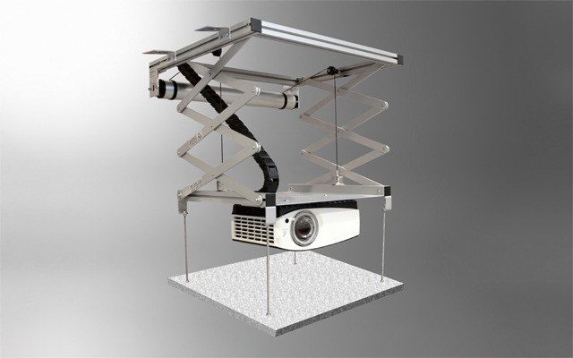 Celexon Projector Ceiling Lift - PL1000 - Up To 90cm Drop - Max Weight Of Projector 15kg